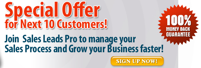 special Offer Sales Leads Pro Package - $100/month
